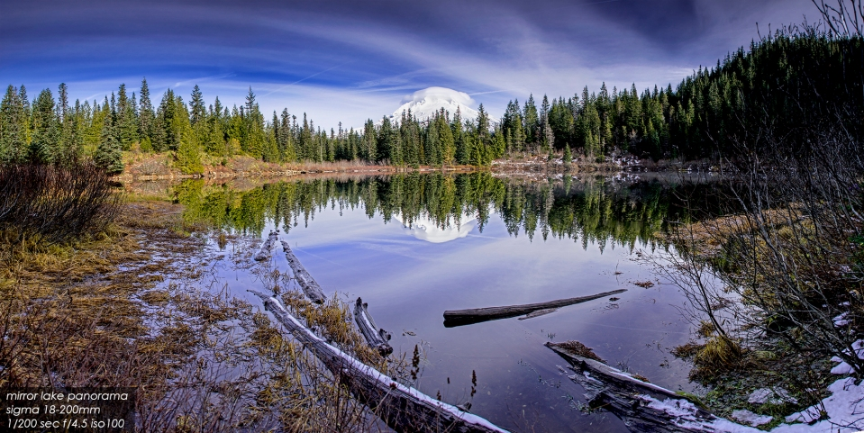 mirror lake, mt hood national forest