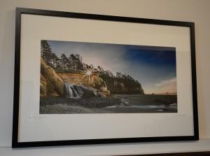 "12x24"" photo in 20x30"" frame"