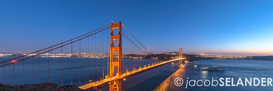 golden gate twilight (12x36)
